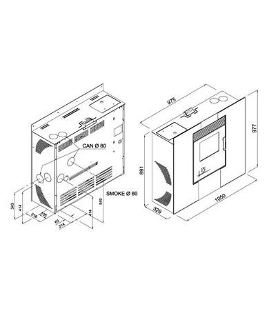 Stufa pellet design Compact
